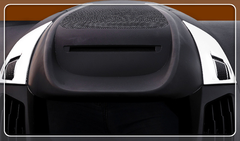 2PCS Matte Middle console air condition vent outlet cover trim For Ford Kuga Escape 2017 font