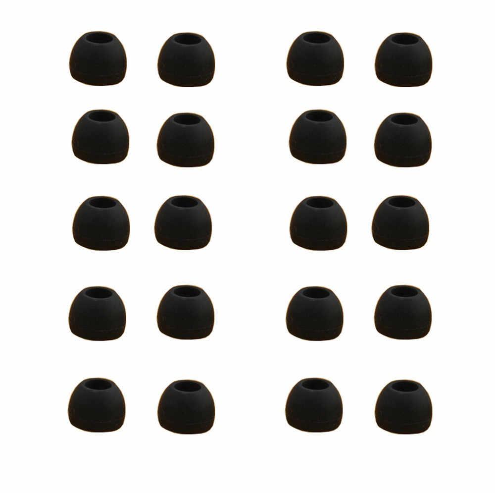 10 пар среднего размера, прозрачные силиконовые сменные подушки для наушников, гелевые накладки, наконечники для наушников, наушники для наушников MP3 # YL10