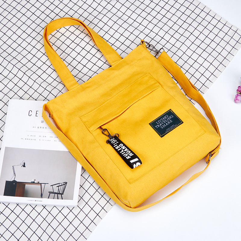 Original Large Canvas With Single Shoulder Messenger Bag Simple Shopping Bag Bucket Bag