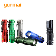 Free Shipping!1 PCS Zoomable Flashlight  3 Mode Switch  Lantern Belt Clip Battery  CREE Q5 LED  800LM [SK68] singfire sf 117d 180lm 3 mode zooming flashlight w cree xre q5 silver 1 x aa 14500