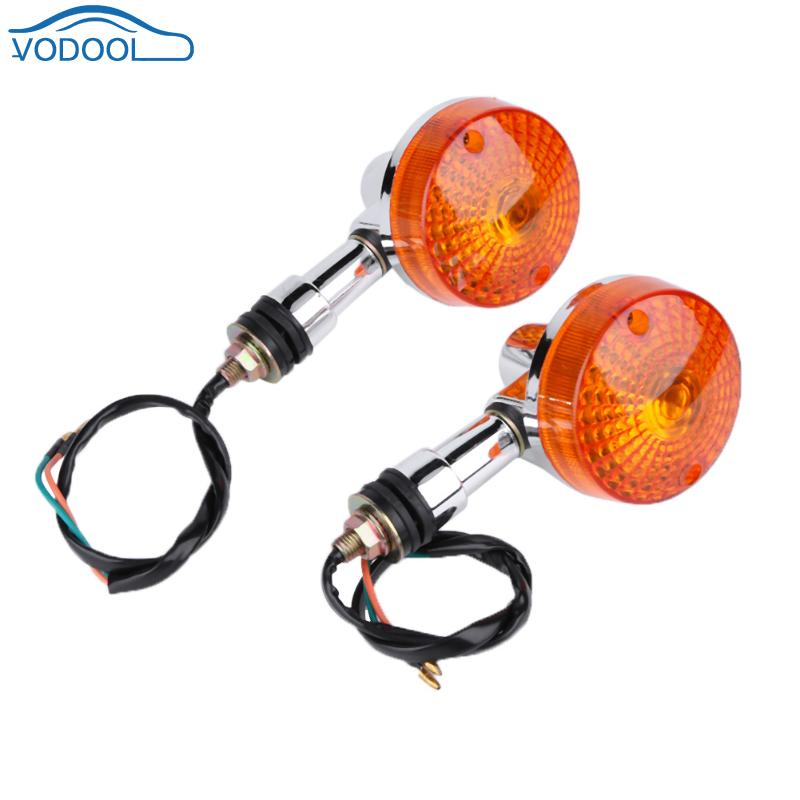 2pcs Universal Motorcycle Front Rear Turn Signals Lamp DC 12V Indicators Amber Light 10W Motorcycle Accessories Car Styling