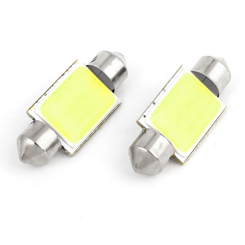 Delicate New Arrival 36mm White 12 COB Festoon Dome Light Car Lamp DC 12V For Car Internal