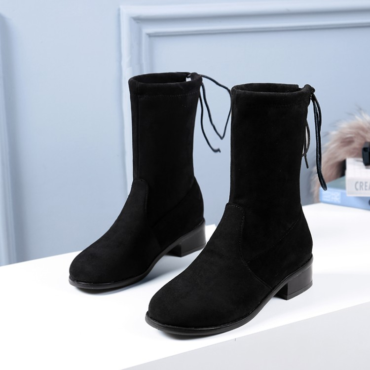 Big Size 9 10 11-15 boots women shoes ankle boots for women ladies boots After binding with suedeBig Size 9 10 11-15 boots women shoes ankle boots for women ladies boots After binding with suede