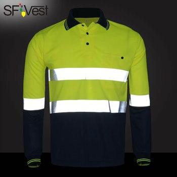 e15928ba4 Marca Hi vis de alta visibilidad para hombre Camiseta reflectante ropa de  trabajo de seguridad para hombre fluorescente más tamaño de EE. UU.