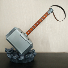 1:1 Scale Full Metal Thor Hammer Mjolnir 1/1 Replica Thor Custom Cosplay Hammer Collection Model Toy (Not Include Stand Base)