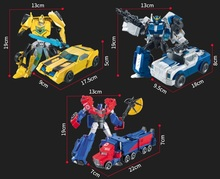 With Package 5 styles Transformation Robot Cars Autobots and prime Toys Action Figures Classic Toys For Kids Christmas Gifts