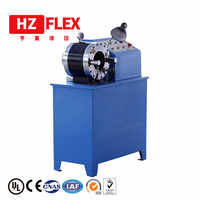 Free shipping to Kenya 380v 3kw 2 inch HZ-50D multi-function automatic hydraulic brake hose press
