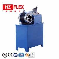 Free shipping to Kenya 380v 3kw 2 inch HZ-50D multi-function automatic hydraulic brake hose press