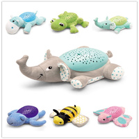 Projection Animals Musical Starry Sky Projector Starlight Sleeping Toy Baby Comfort Plush Doll with Shining Light