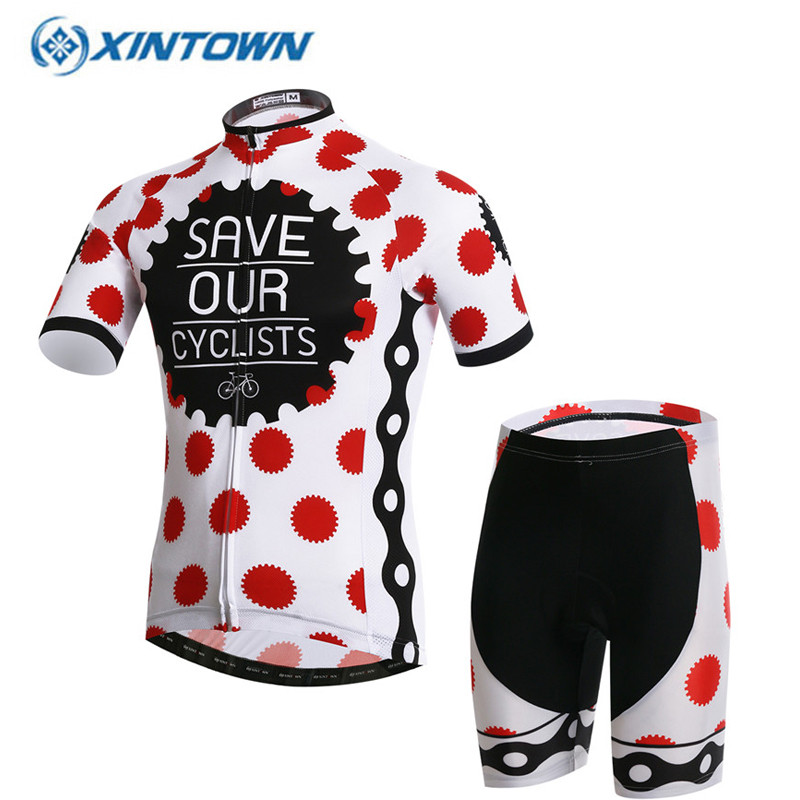 все цены на XINTOWN Team Womens Bicycle Ropa Ciclismo Cycling Jersey Set Girls Short Sleeve Tops + (Bib) Shorts Suit Quick-Dry S-3XL онлайн