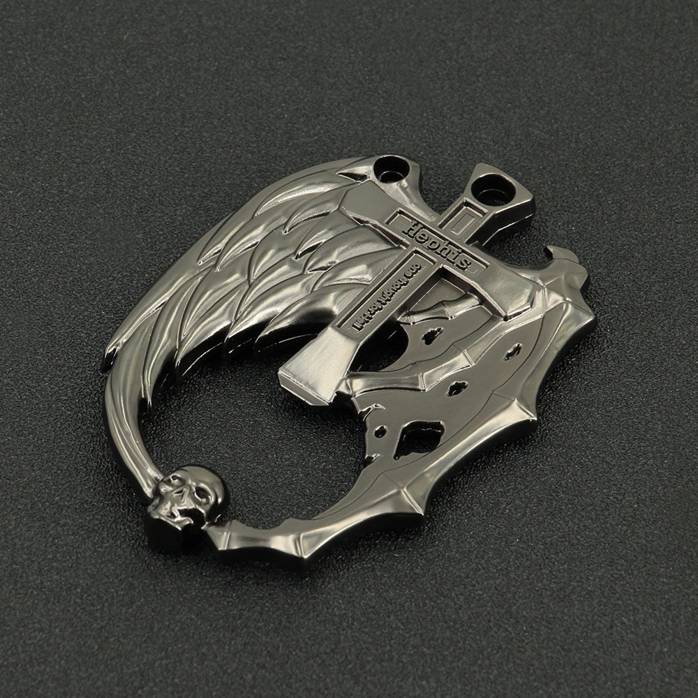 Key Chain Unique Angel Devil Skull Key Holder Ring Multi Function Bottle Opener
