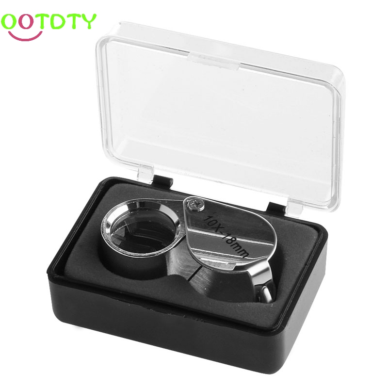 Multipurpose Portable LED Lighted Mini Magnifying Glass Jewelry Appraisal Pocket Magnifying Glass for Antiques Models Photos Money Cash 1# Qkiss Jewelry Loupe Magnifier with LED Light