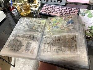 Image 5 - Wyczyść znaczki i Die sadzonki pudełko do przechowywania kieszonkowy Album posiada 80 sztuk wyczyść znaczki 17.8x12.7 cm 2 na stronie wyczyść znaczki organizacji