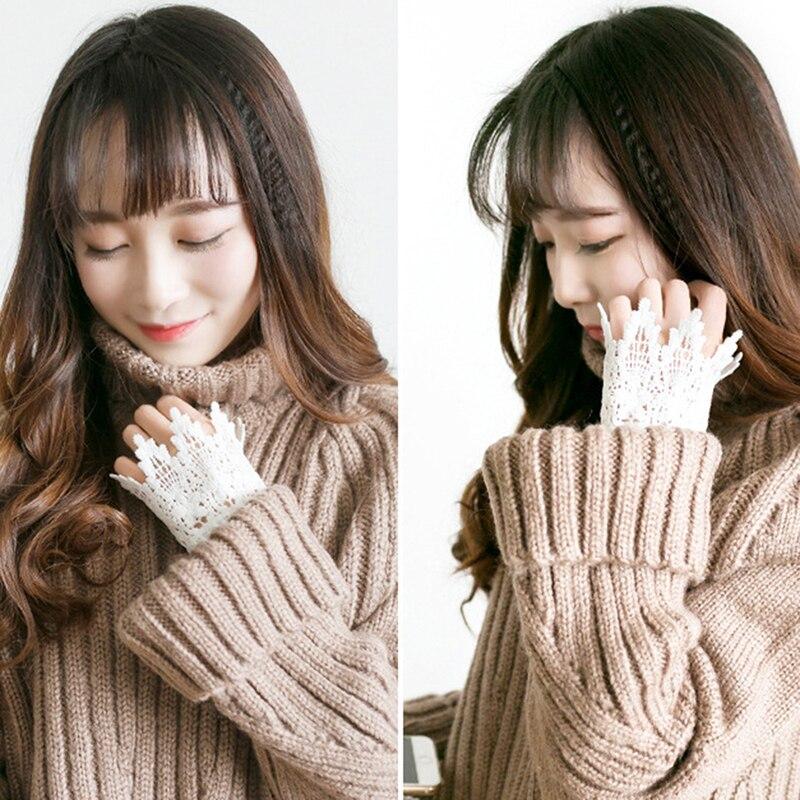 Korean New Schöne Göttin Spitze Hohl Haken Zubehör Outdoor Bekleidung Arm Wärmer Frauen Gefälschte Arm Ärmeln Orgel Plissierten Manschette Einfach Und Leicht Zu Handhaben Bekleidung Zubehör Armstulpen