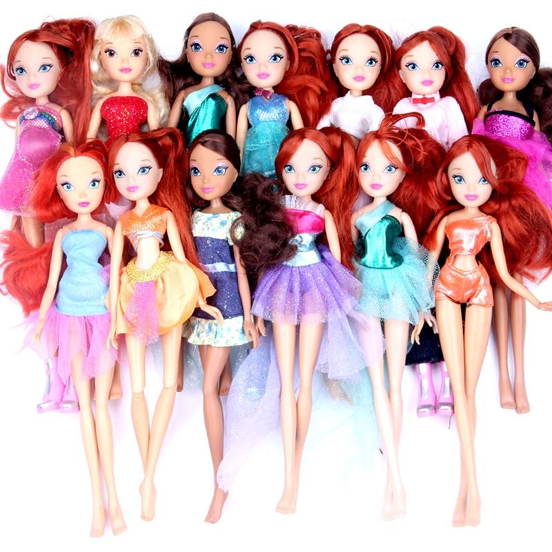 1pc random ship Newest Winx Club Doll rainbow  girl Action Figures Fairy Bloom Dolls Draculaura Frankie Stein Clawdeen Wolf умка обучающий планшет winx club 60 программ умка