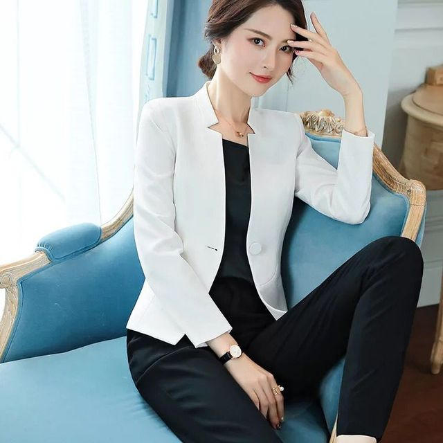 125b131c7f7dd 2019 Summer Women's Suit jacket Blazer Dress women blazers and jackets  Office lady Formal Elegant Ladies tops and blouses Coats