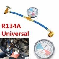 Vehemo Réfrigérant R134A Recharge Tuyau Pouvez Taper Gauge Air Conditionné Inspection de Pipelines