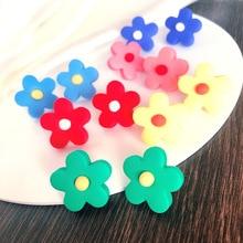Kids New Korean Tv Star Colorful Flower Ear Clip For Women child Baby Girls Sweet Sunflower Cute Boucle Doreille Accessory