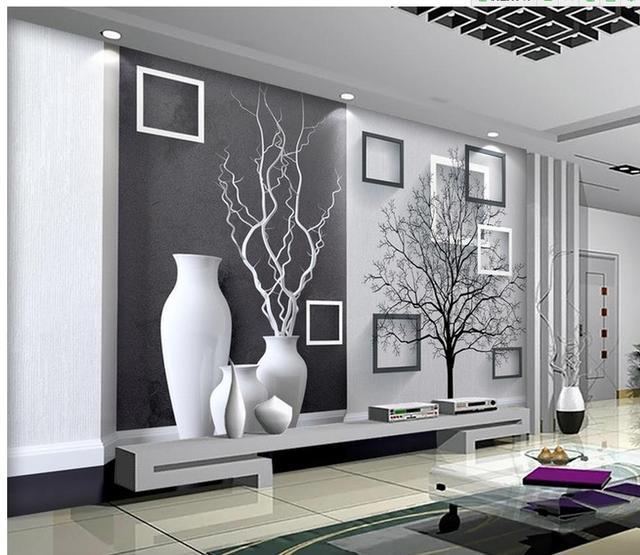 Free Cheap D Papier Peint Pour Chambre Moderne Noir Et