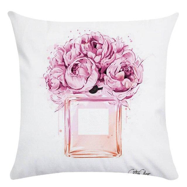 زهرة هوميروس ديكور غطاء الوسادة رمي المخدة وسادة يغطي 45*45 سنتيمتر وسادة مقعد للأريكة الزخرفية نافيداد