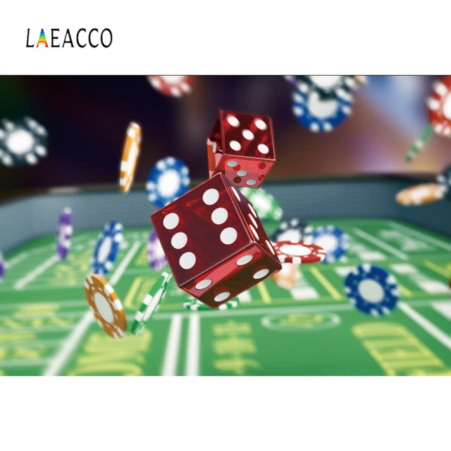 Laeacco Las Vegas Backgrounds Dice Chips Casino Entertainment Party Decor Poster Photography Background Photophone Photo Studio