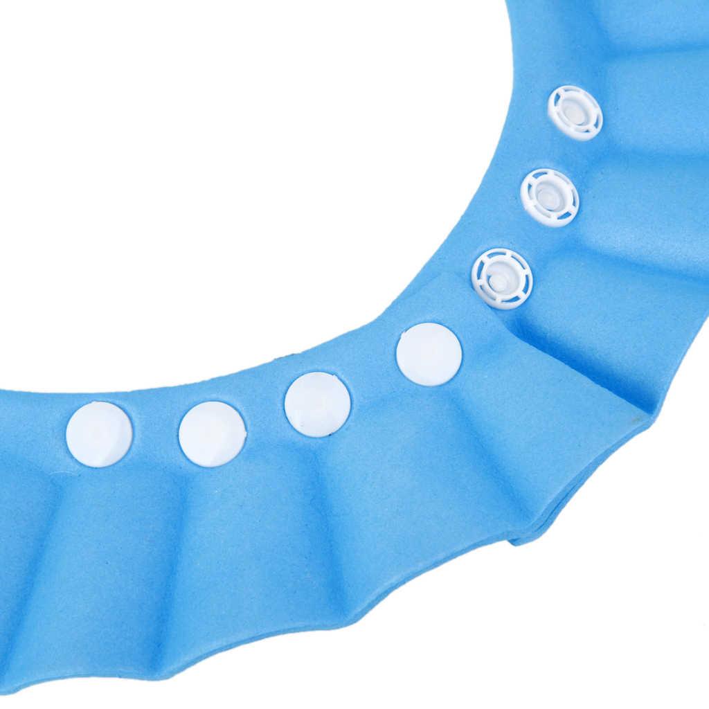 1 PC EVA Bayi Anak-anak Bayi Shampoo Kamar Mandi Mandi Mandi Shower Cap Set Cuci Rambut Perisai Tahan Air Visor Topi 3 warna