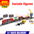 IN Stock DHL Lepin 02009 1033PCS City Train's Heavy-haul Train DIY Building Blocks Bricks Toys children Gifts Clone 60098