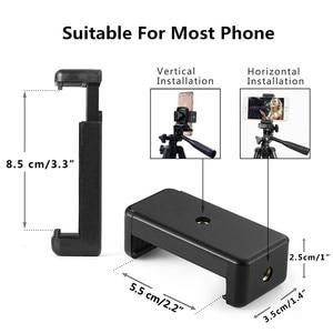 Image 2 - Tripé para câmera e celular, tripé + suporte para iphone 8, 8 plus, ios, android, mini tripé