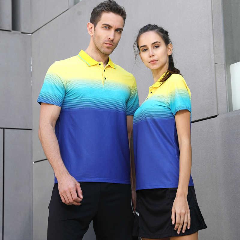 Футболка для бадминтона Мужская/Женская спортивная рубашка для бадминтона теннисная футболка быстросохнущая Футболка Поло для гольфа