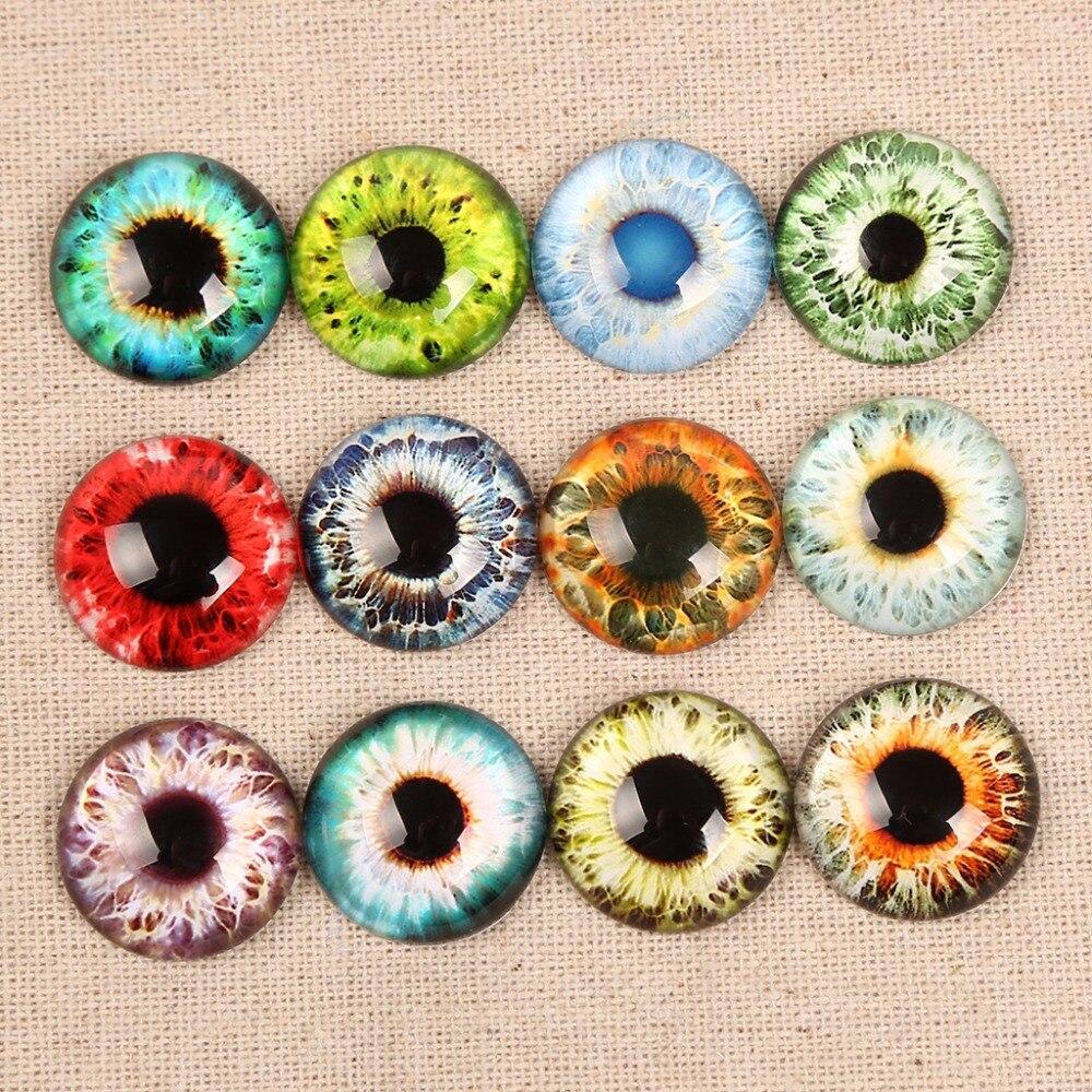 Onwear смешивания зрачок глаз фото круглый стеклянный кабошон 12 мм 14 мм 16 мм 20 мм 25 мм 8 мм 30 мм diy серьги браслеты аксессуары