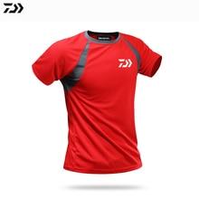 DAIWA летняя одежда для рыбалки короткий рукав быстросохнущая Солнцезащитная дышащая футболка анти-УФ ультратонкая dawa, рыболовство рубашка