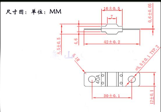 2PCS ANS trumpet Fork plug fuse 30A 40A 50A 60A 70A 80A 100A 125A 150A 200A Bolt fixed insurance film