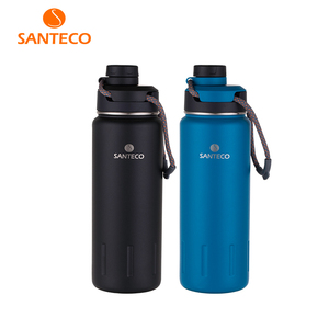 Image 1 - Santeco 710ml Thermos Bottle With Rope Double Wall Stainless Steel Coffee Tea Milk Outdoor Gift Vacuum Bottle