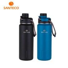 Santeco 710ml garrafa térmica com corda parede dupla de aço inoxidável café chá leite presente ao ar livre garrafa vácuo