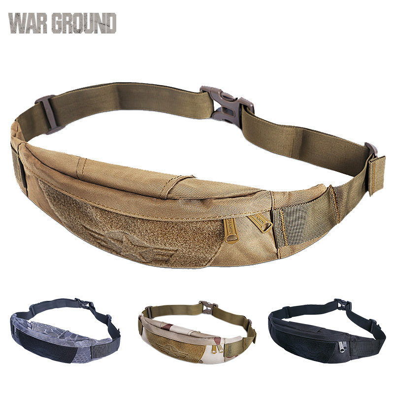 Military tactical pockets fishing hunting bag camping outdoor climbing belt bag men and women invisible running sports pockets