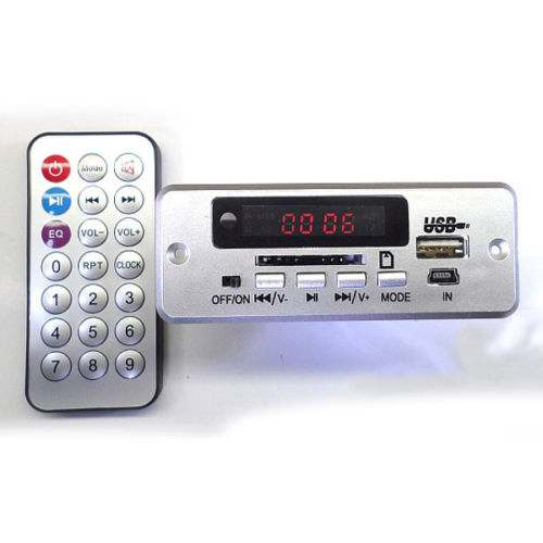 5V/12v Digital LED Mp3 Decoder Board + IR Remote Control Usb SD FM Radio For CAR