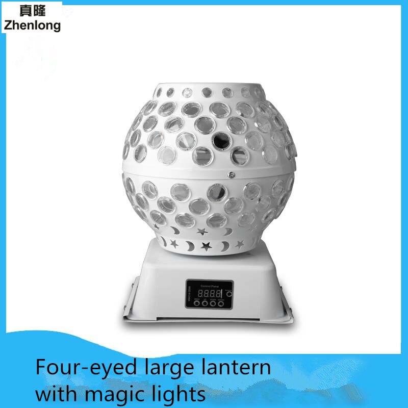 Beam Light KTV Flash Four-eye View Big Lantern Lamp Magic Pattern Sound Bar Lamp Performance Lights Smoke Lamp Red Green Blue