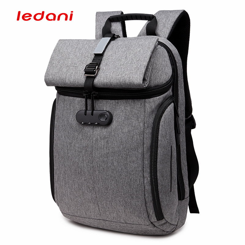 LEDANI Anti theft Backpack Men Multi-function 15.6 inch Password Lock Laptop Backpack Male Notebook Back Pack Travel Backpacks for pc and mac nobletlocks ns20t xtrap notebook cable lock laptop lock 6feet