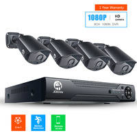 JOOAN 8CH 1080N CCTV DVR Home Security Camera System 4 1080p Waterproof Outdoor IR Light Night