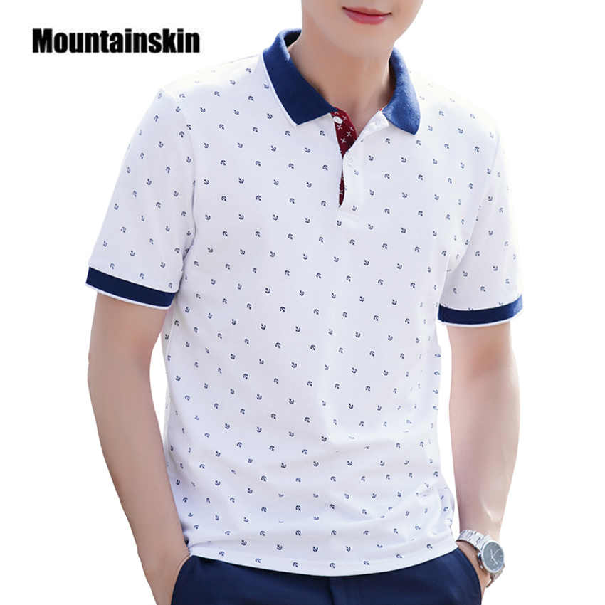 4e8773b08559c Polo Shirt Men Summer 100% Cotton Printed POLO Shirts Brands Short Sleeve  Camisas Polo Stand