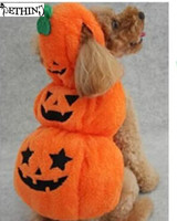 Free Shipping Hot And The Most Popular Dog Halloween Clothes Cute Draping Pumpkin Pattern For The