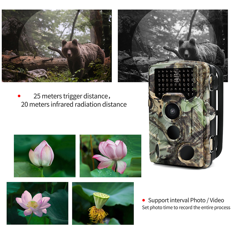 HD night vision infrared night Hunting Camera 12MP 1080P Wildlife Game Camera Low Glow for Wildlife Monitoring ccd diy hunting night vision camera with 16mm lens infrared night vision industrial camera 0 0001lux ultra low light camera