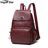 Large Capacity School Girl Daily Bag Travel Bags Mochila Leather Backpack Women Fashion Female Backpack String Bags M278
