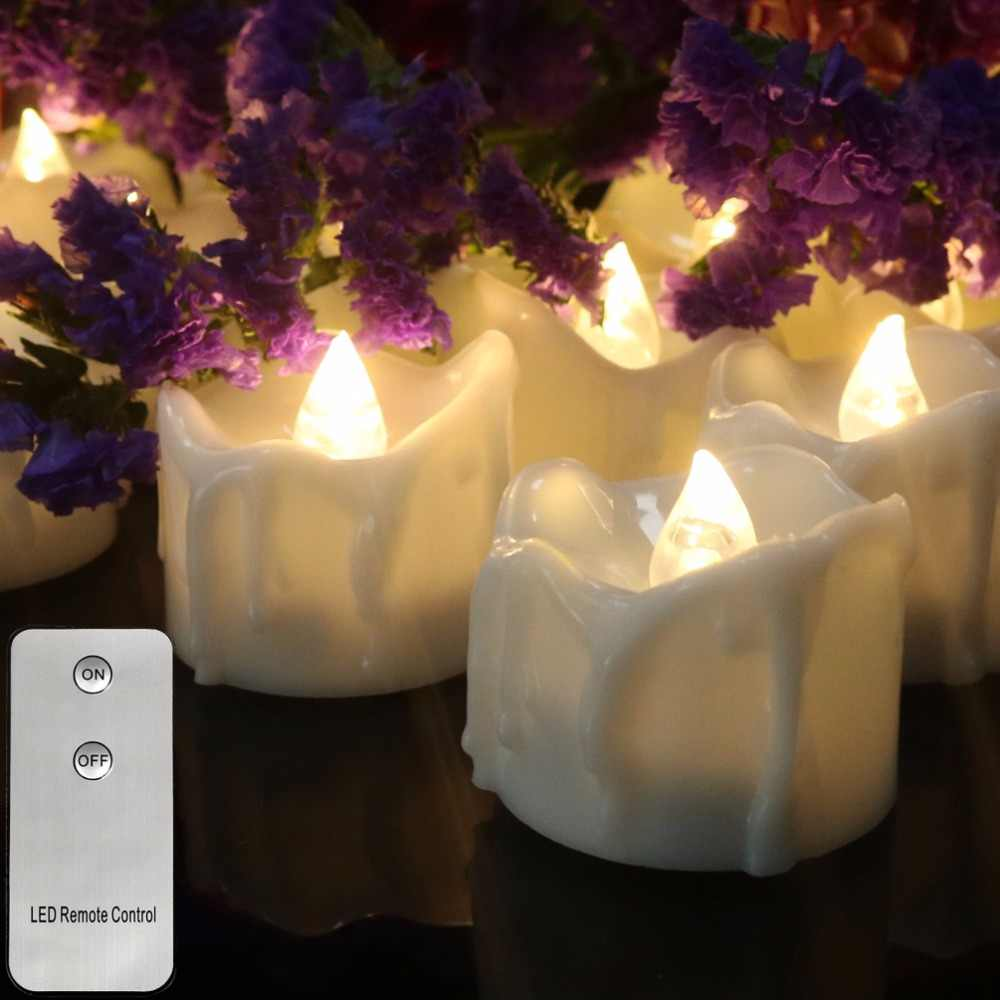 Pack of 12 Remote or not Remote New Year Candles,Battery Powered ...