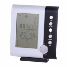 Cheaper Multi function LCD Wireless Digital Thermometer Hygromete Weather Station Alarm Clock Indoor Outdoor Temperature Humidity Tester