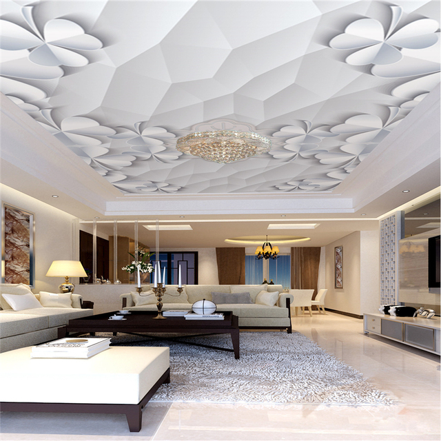 custom ceiling mural wallpaper living room theme hotel ceiling wall