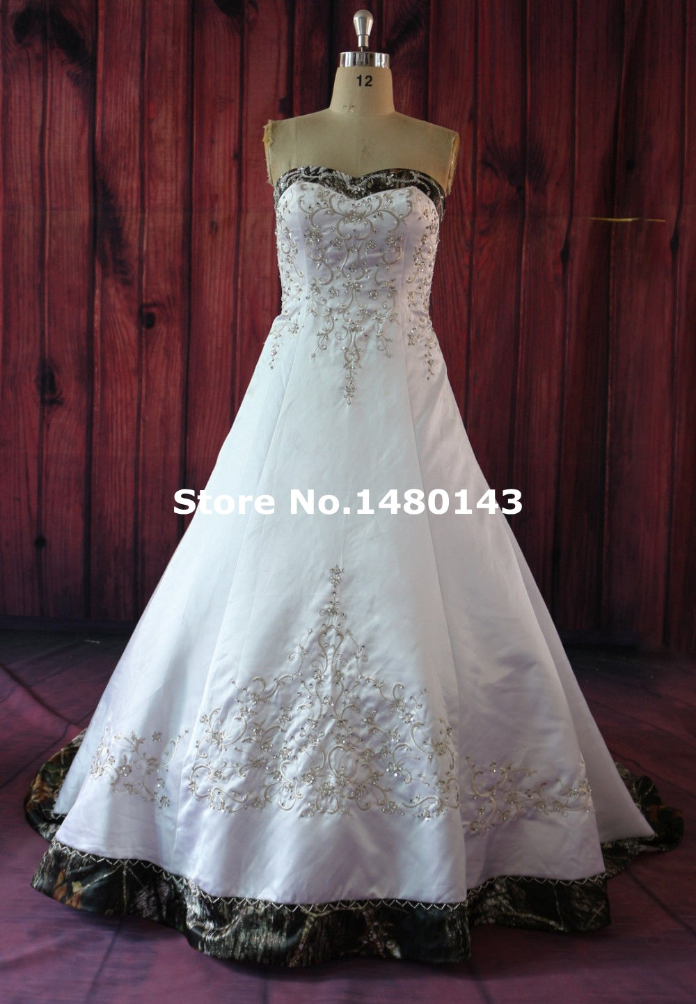 whiteivory camo wedding dresses 2016 strapless camouflage bridal gown modest capitao america custom made
