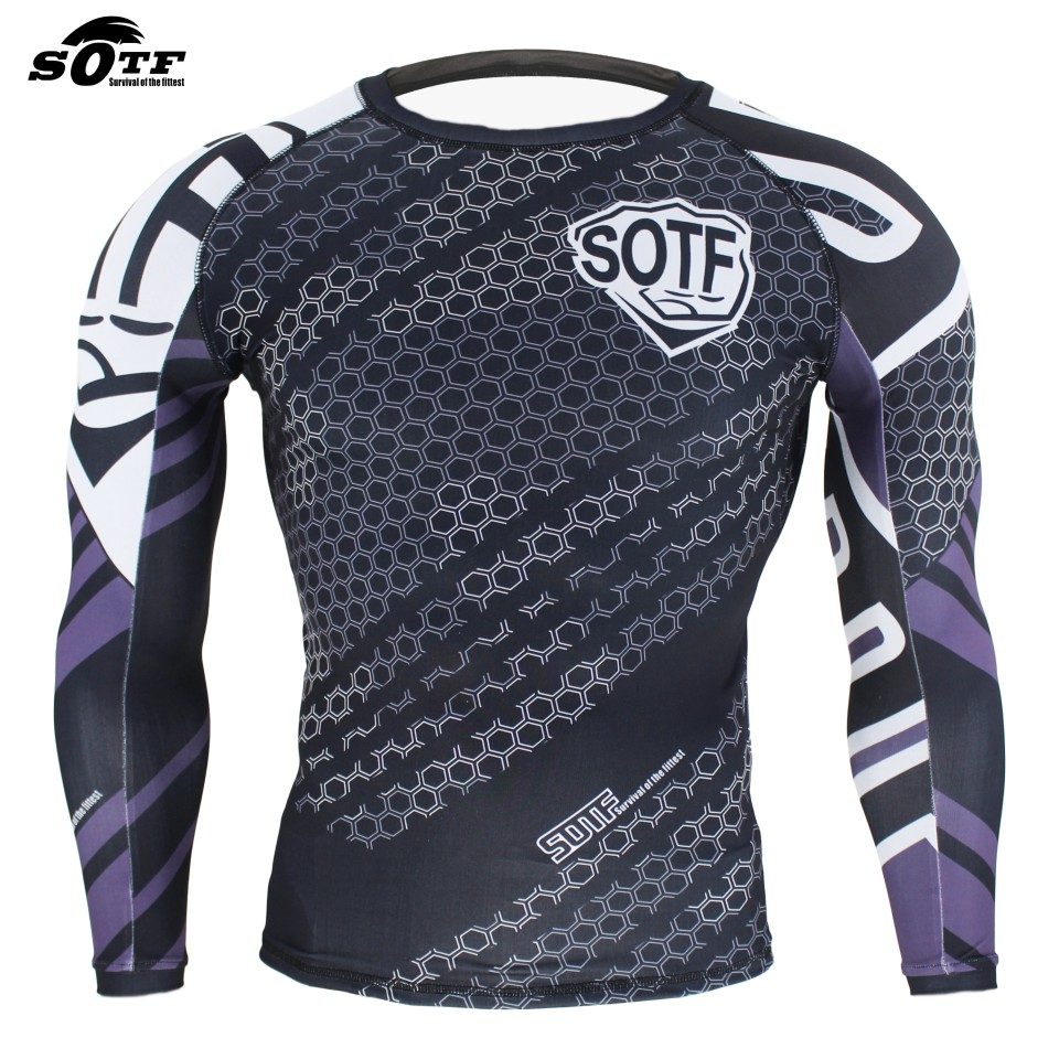 SOTF Mma Black Geometric Print Domineering Fighting Fight Fitness Wear Sweatshirt Boxing Jerseys Boxing Shorts Thai Boxing Mma