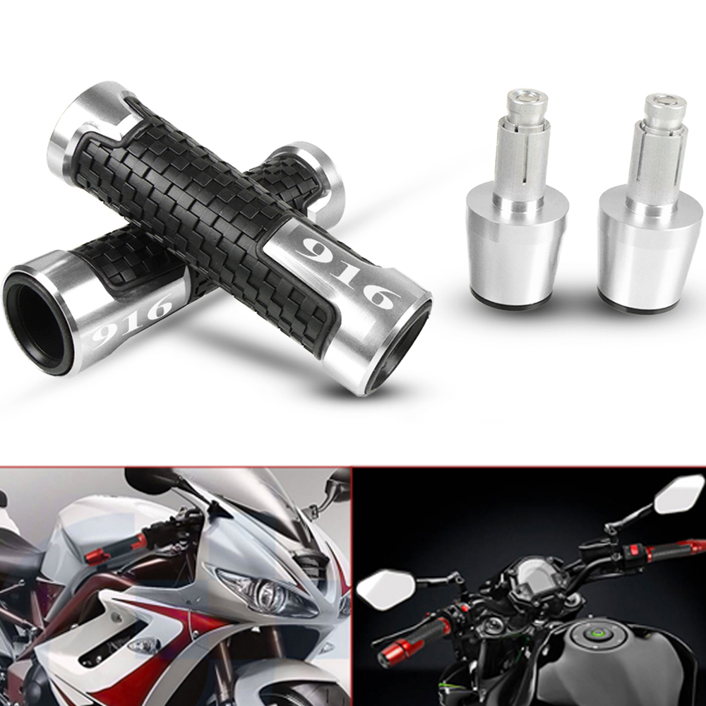 For DUCATI 916 1998 Motorcycles CNC Aluminum Handle Handlebar Hand Grips And Handle Bar Caps Cover Ends Weights Moto Accessories
