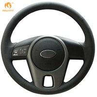 Black Leather Steering Wheel Cover For Kia Forte Kia Soul